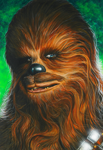 Star Wars portraits: Chewie by vividfury
