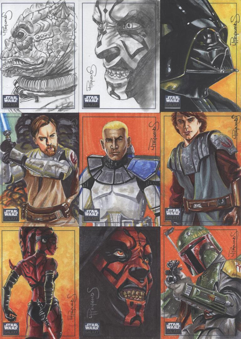 SW Galaxy 6 sketch cards pg3 by vividfury