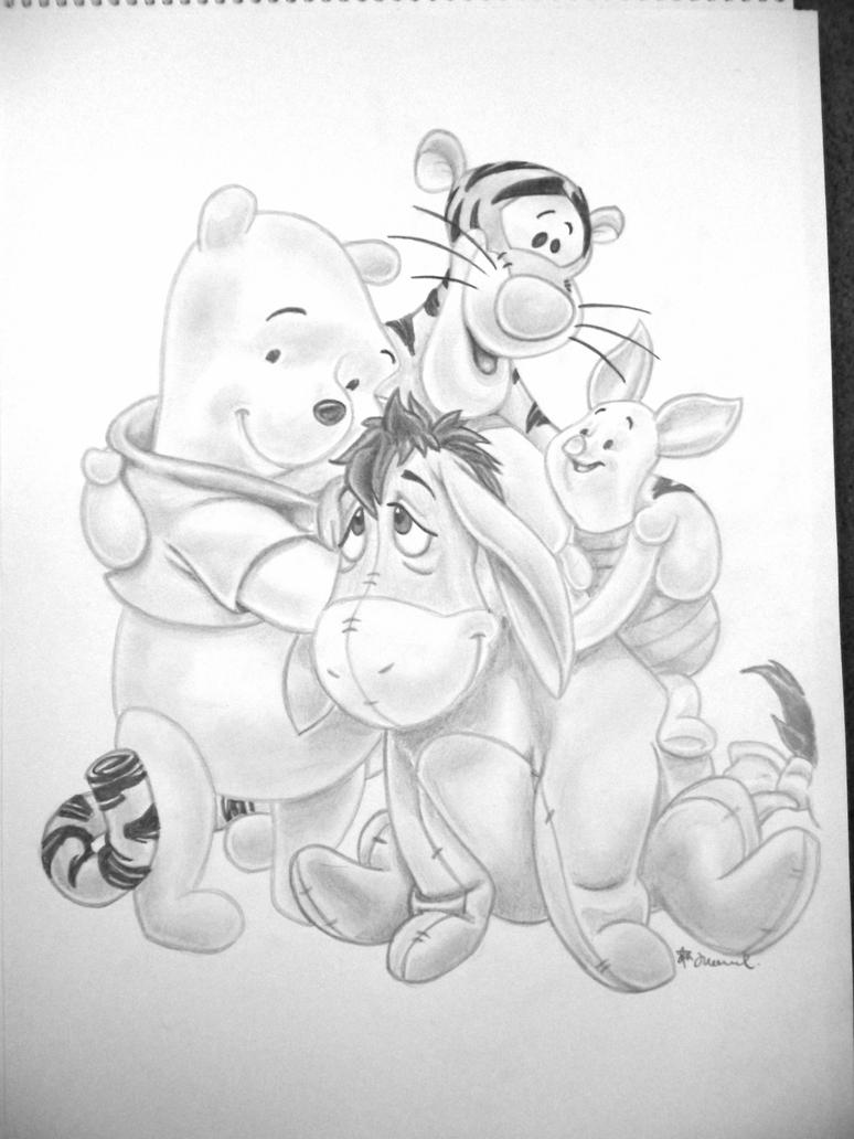 winnie the pooh and friends by jordanh17 on DeviantArt