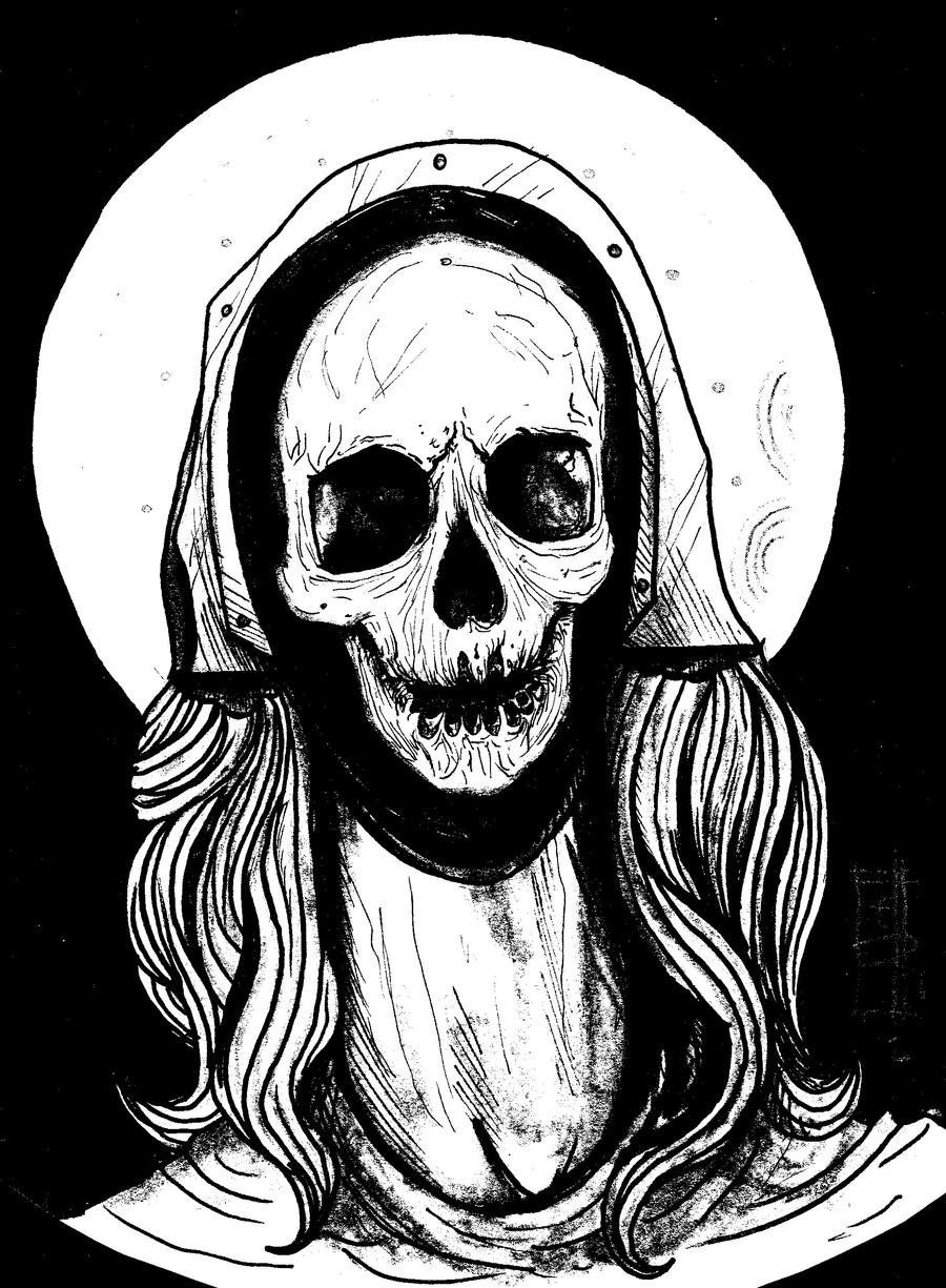 Reliquary of Mary Magdalene Black and White by metrosexual-werewolf
