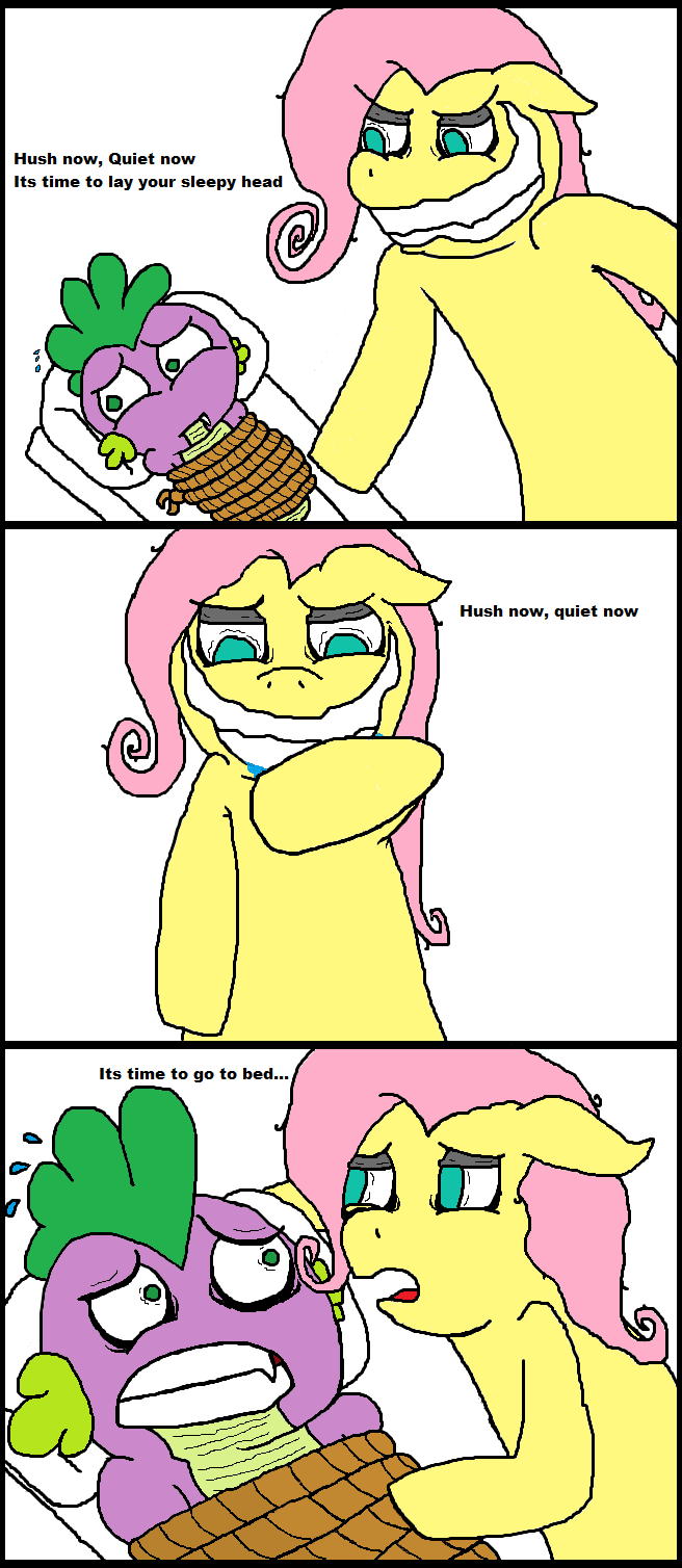 Fluttershy and Spike share a moment by Spikandfrends