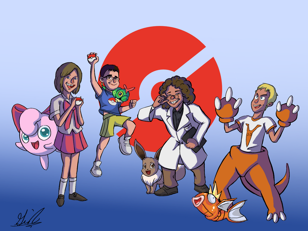 Pokemon Team Commission by GiothermalArts