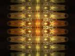 Reflections of golden light