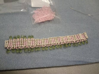 oops i ran out of green beads ... work in progress