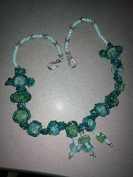 Collana Verde Smeraldo E Celeste