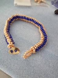 Bracciale Serpente Egitto Blu Oro