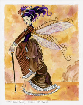 Steam punk fairy colored