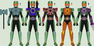 Kamen Rider Kizo: Giga Emblem Changes (complete)