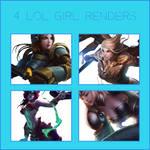 Render Pack: 4 League of Legend Girls Renders