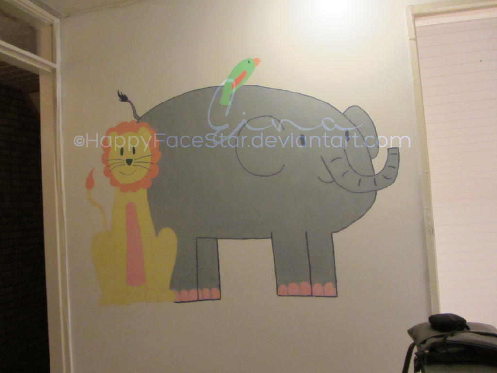 Week #3 Wallpainting finished~ by HappyFaceStar