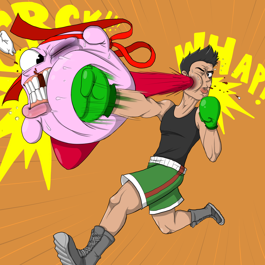 Lil Mac and Kirby dukin' it out by JangoMcTango