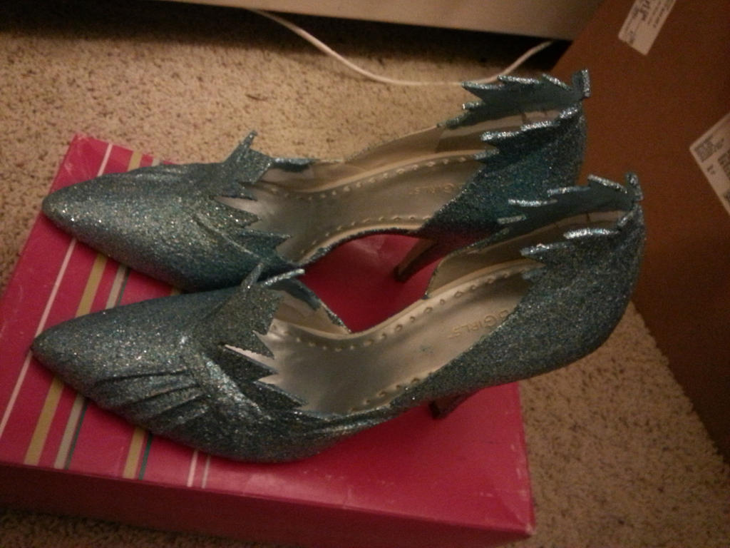Elsa shoes by katesorganizedchaos