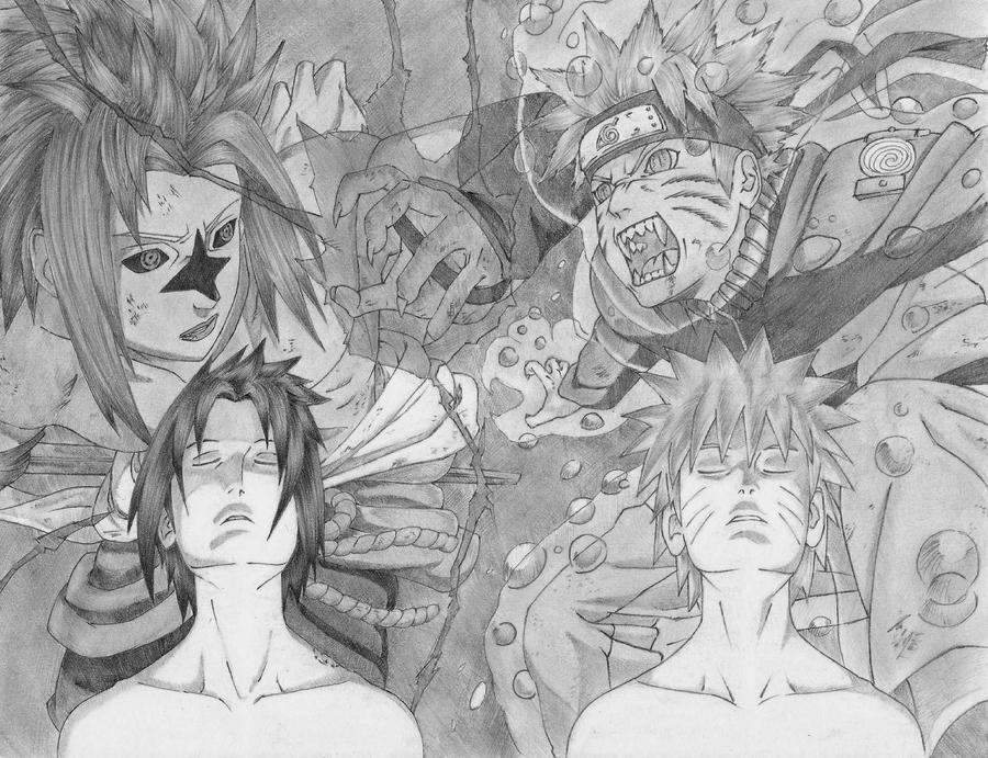 Naruto and Sasuke by RyuTakatsuki16