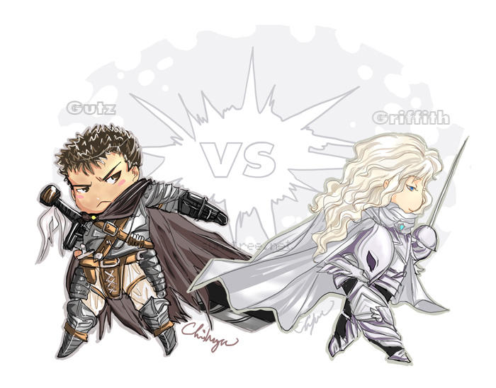 Chibi berserk - Gutz and Griff by chihaya