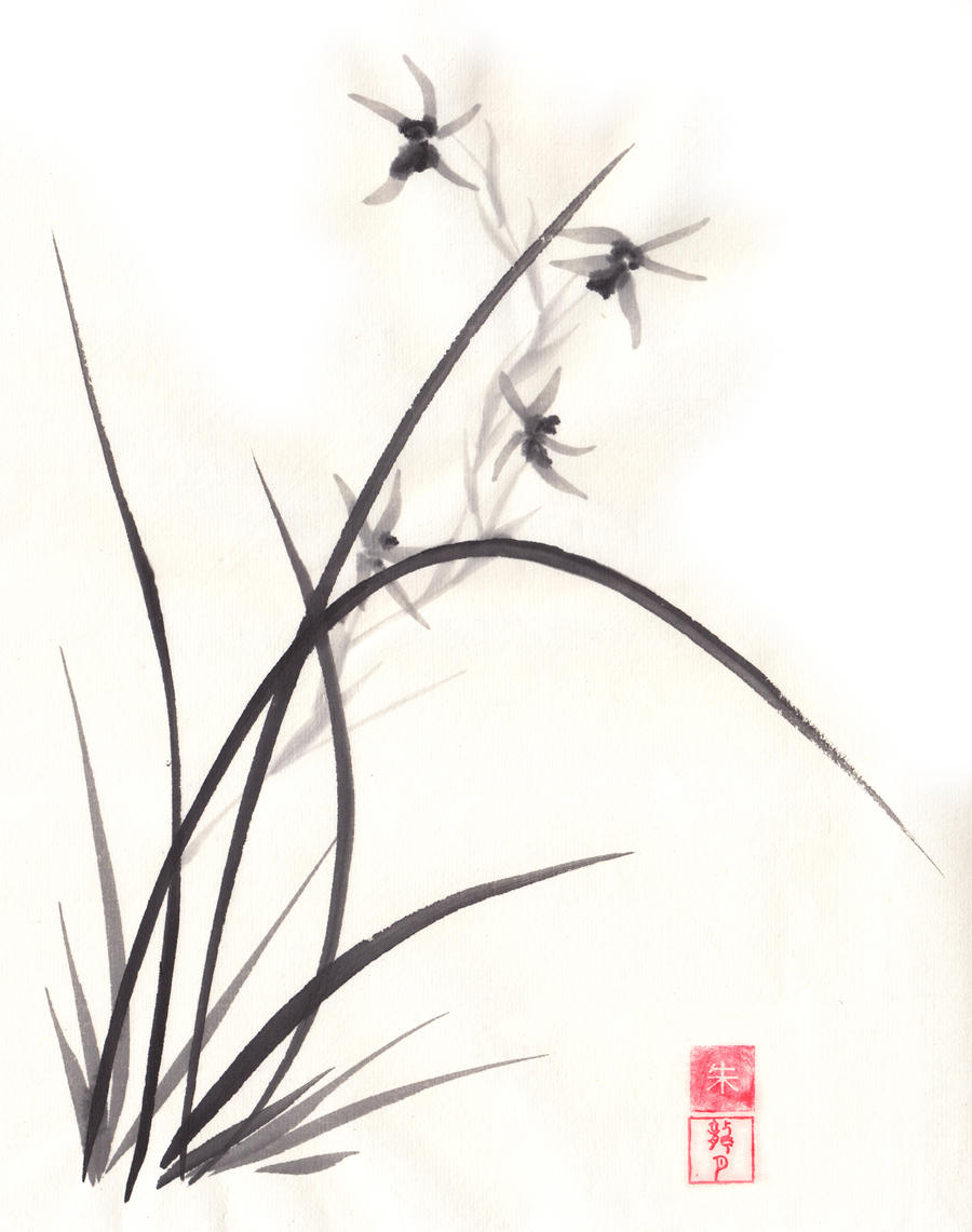Four Gentlemen Chinese Brush Painting