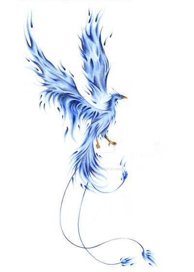blue phoenix 2 by gisapizzatto on deviantart. Black Bedroom Furniture Sets. Home Design Ideas