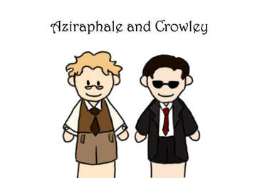 Aziraphale and Crowley Puppets by Aziith