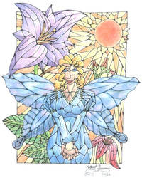Stained Glass Fairy by JuviDrake