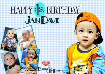 Jan Dave 1st Birthday by chrysler080490