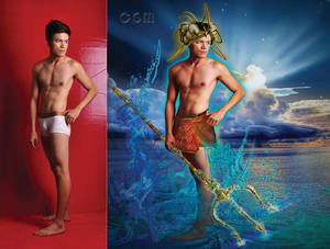 Dumarz as Poseidon.