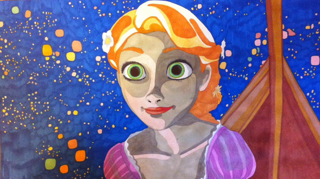 tangled drawingpainting by rgulbis23 on deviantart