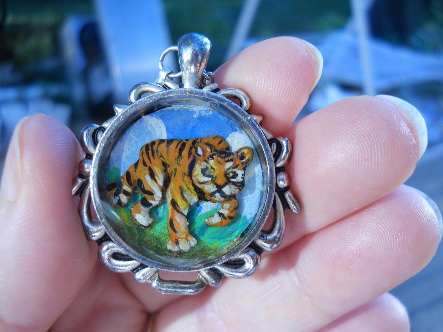 Tiger tiger Pendant by MySweetPhantom