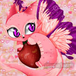 Commission Pink Dragon by Yami-Chiby