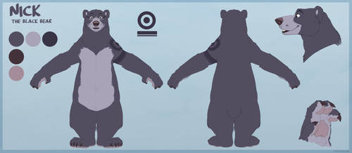 Reference Sheet Commission-BearWitGlasses