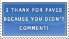 Stamp: I Thank For Faves by faithfullly