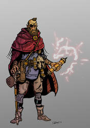 DnD Half-elf Warlock. by TheIronShoes