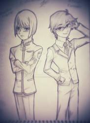 Kinshirou Kusatsu and Atsushi Kinugawa
