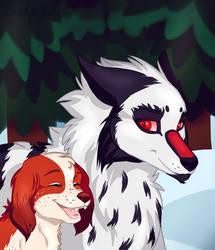 Deimoss and Mirelde by faeryy