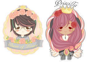 Crowned ladies :commission ID batch 1: by Kaidachu