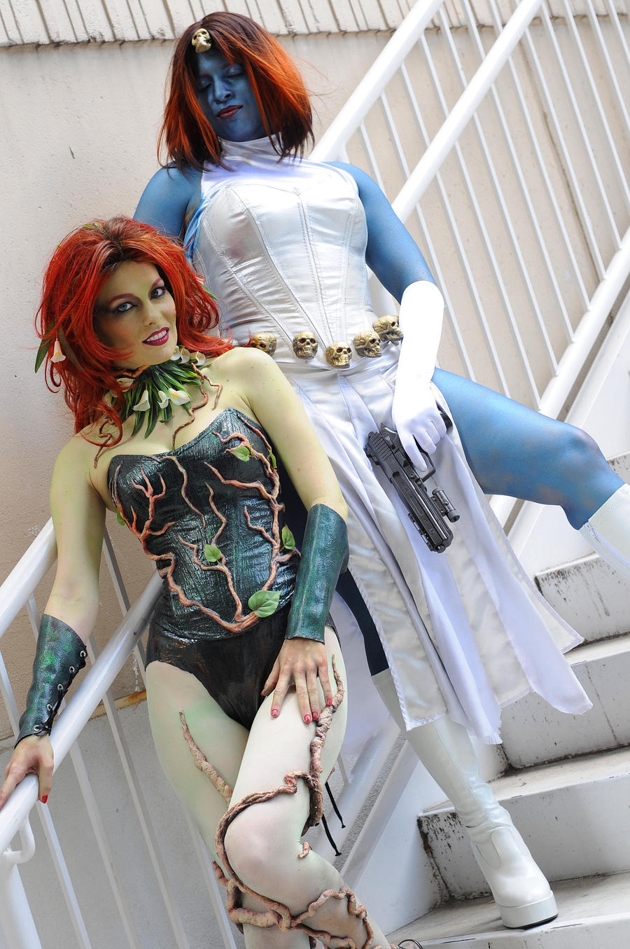 Poison Ivy and Mystique by popecerebus