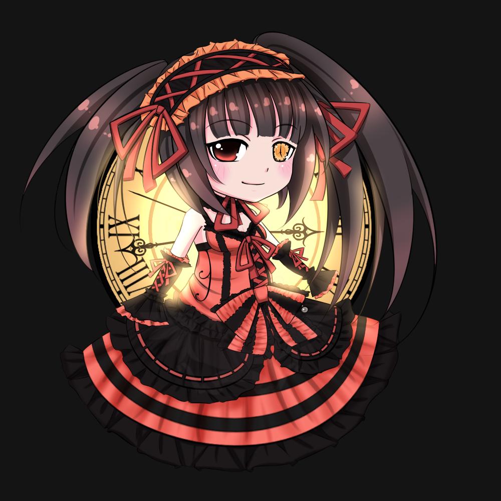 Chibi De Tokisaki Kurumi By GlSHl