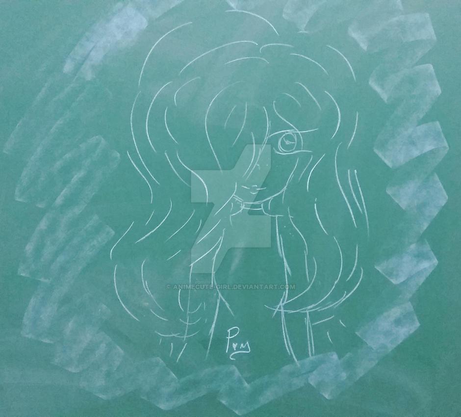 old ass sketch on our blackboardanimecute-girl on deviantart