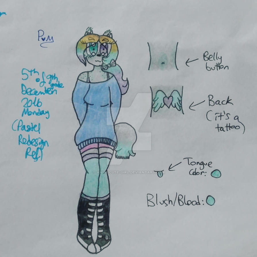 Redesigned Pastel Reference By Animecute Girl On Deviantart