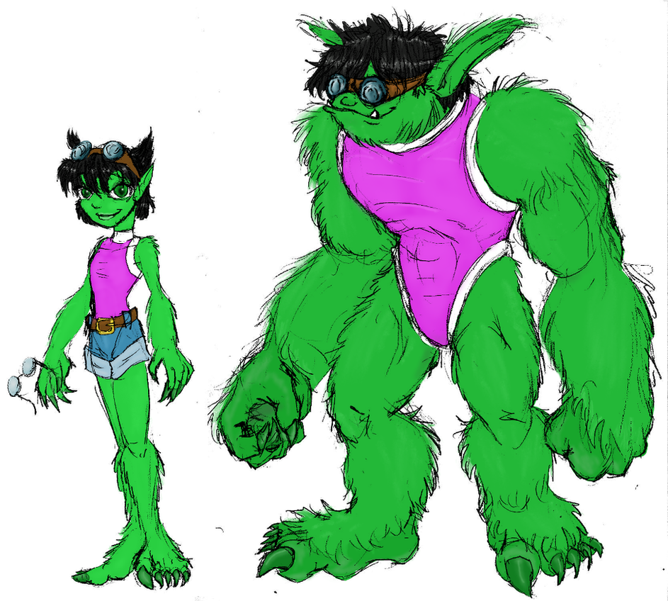 She-Beast colored by Orin by Heckfire