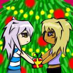 merry xmas marik and bakura