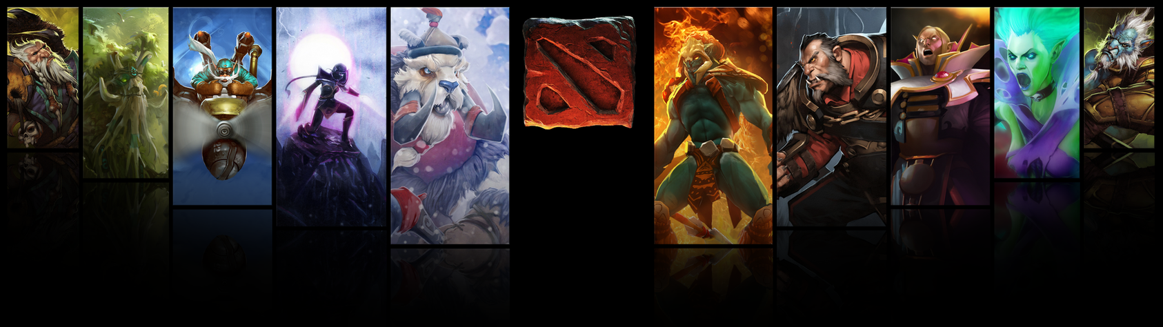 Dota 2 Dual Screen Wallpaper By Nut NBz