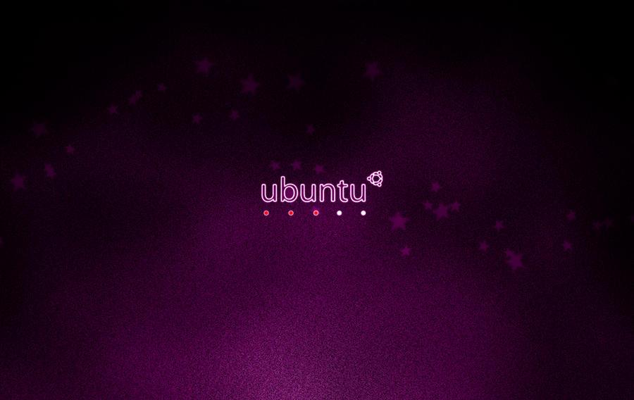 Ubuntu Minimal Wallpaper Dark Version by nitinchamp