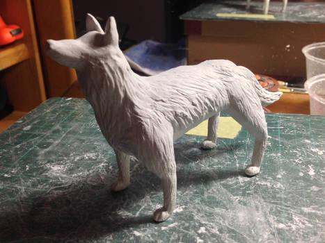 Paperclay Wolf