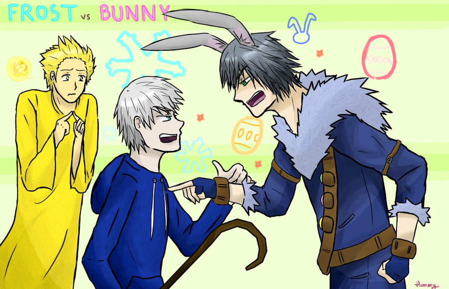 ROTG Frost VS Bunny By Reikiwie