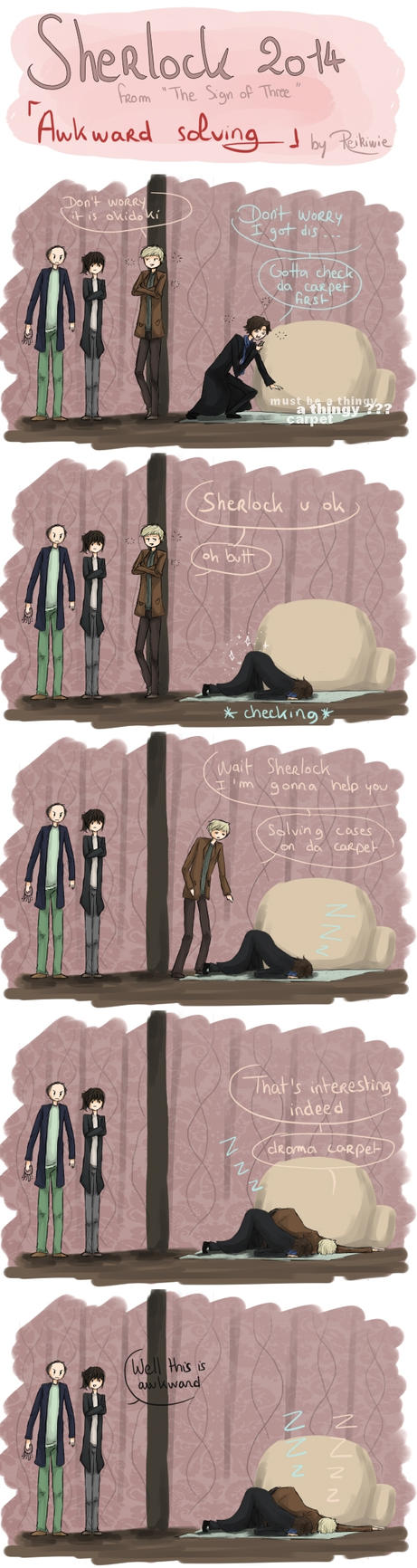 This is awkward - Sherlock BBC by Reikiwie