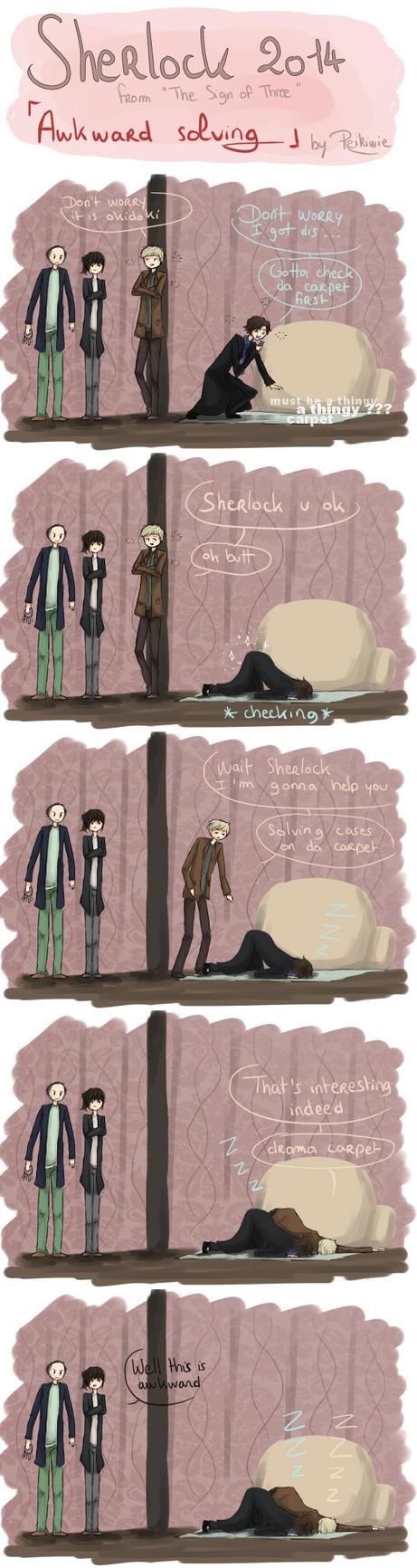 This is awkward - Sherlock BBC by Reikiwie