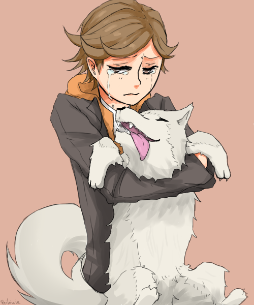 Ken and Koromaru by Reikiwie
