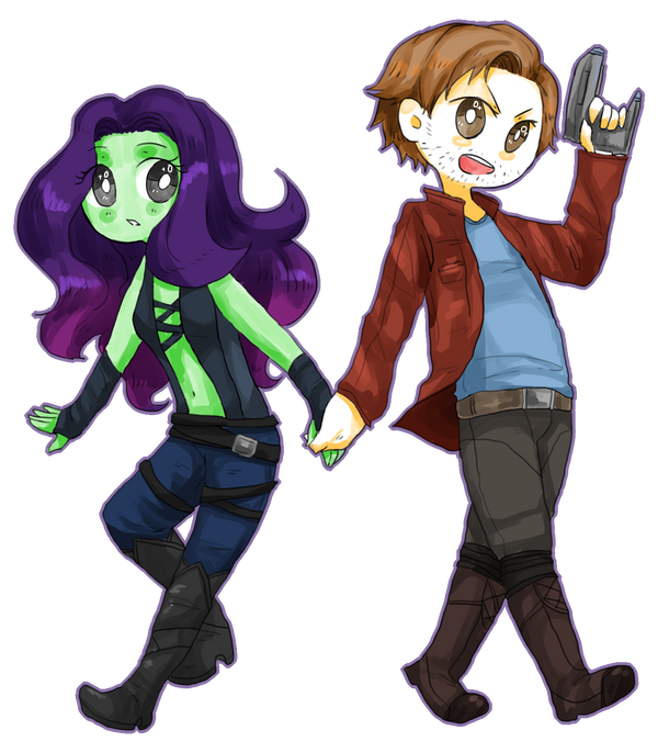 Peter/Gamora by Reikiwie on DeviantArt
