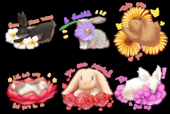 Calm bunnies by Reikiwie