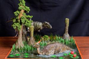 Mesozoic swamp Mongolia by Maastriht123