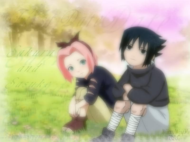 SasuSaku in Childhood by xXNaru-Saku-SasuXx